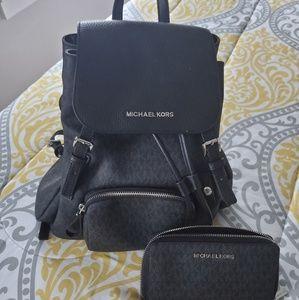 Michael Kors backpack & wallet